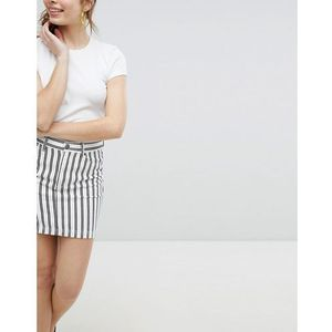 Monki striped mini skirt - multi