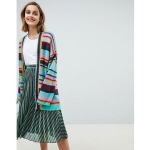 oversized rainbow stripe cardigan - multi, Essentiel antwerp, 34-42