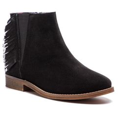Pepe jeans Trzewiki - nelly fringes pgs50127 black 999