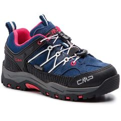 Trekkingi CMP - Kids Rigel Low Trekking Shoes Wp 3Q54554 Marine/Corallo 36MC, kolor wielokolorowy