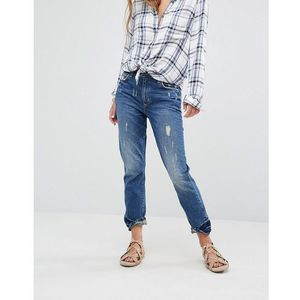 Lovers + Friends Logan High Rise Slim Jeans with Released Hem - Blue