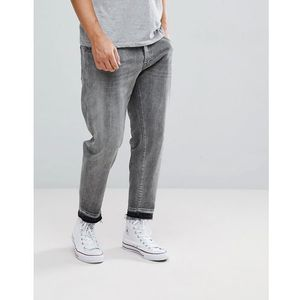 Selected Homme Jeans In Tapered Fit With Cropped Leg - Grey, kolor szary