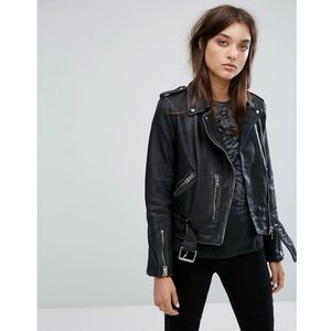 All saints vintage leather balfern biker jacket - black, Allsaints