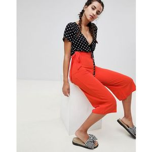 Boohoo Tie Waist Culottes - Orange