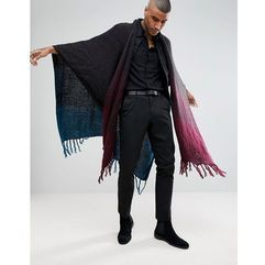 ombre cape in teal and burgundy fade - multi marki Asos