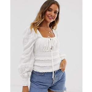 volume sleeve top - white, Free people
