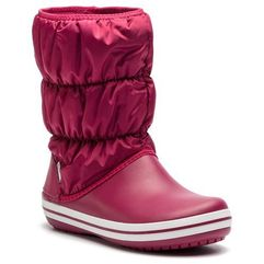 Śniegowce - winter puff boot 14614 pomegranate/white marki Crocs