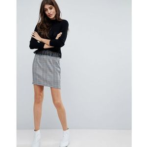 Parisian check mini skirt - black