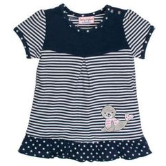 SALT AND PEPPER Baby Glück Girls Tunika Foka navy blue (4054432738808)