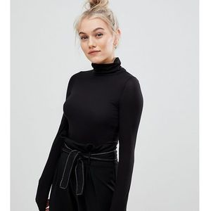 roll neck top in black - black marki New look petite