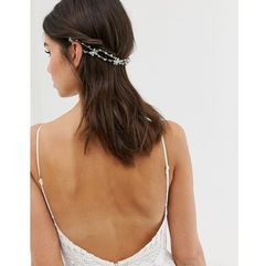 bridal back hair crown in crystal - silver marki Asos design