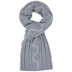 Bench Szalik - cable scarf winter grey marl (ma1054)