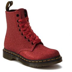 Glany - 1460 pascal glitter 24839602 red/ fine glitter marki Dr. martens
