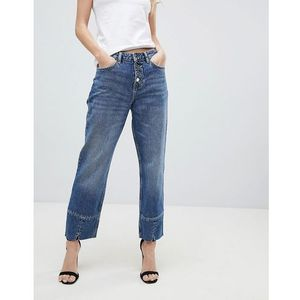 Mango straight leg crop jean - blue