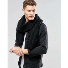 knitted scarf in black - black marki Asos