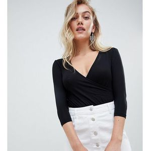 New Look Petite Wrap Body - Black