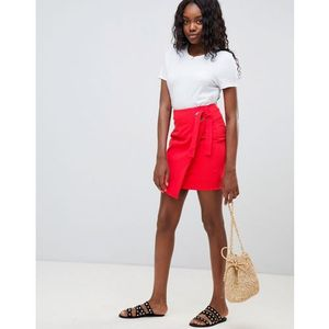 wrap mini skirt - red, Glamorous, 36-40