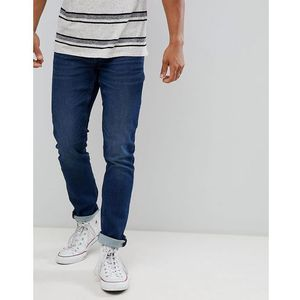 Only & sons slim fit jeans with washed detail in mid blue - blue