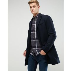 Esprit wool overcoat - navy