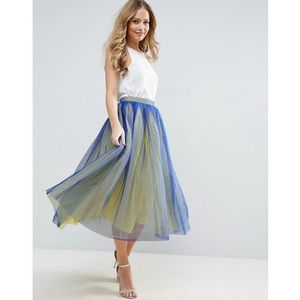 tulle prom skirt with two colour layers - multi marki Asos