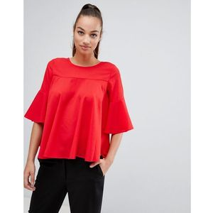 AX Paris frill sleeve top - Red