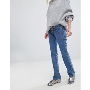 x bella freud high rise straight leg retro jean - blue marki J brand