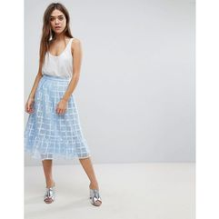 After Market Ruffle Midi Skirt - Blue, kolor niebieski