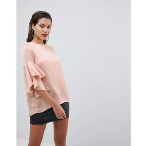 ruffle sleeve top - pink marki Ax paris