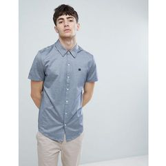 Aquascutum Hodder Short Sleeve Mercerised Short Sleeve Shirt In Navy - Navy, kolor szary