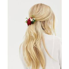 back hair crown in mixed florals - multi marki Asos design