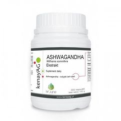 Ashwagandha 500 mg (300 kaps.) Arjuna Natural Extracts (5900672153095)