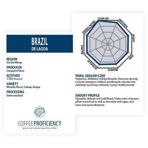 brazil de lagoa 250g marki Coffee proficiency