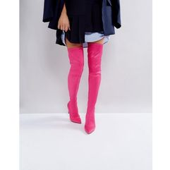 kindy point over the knee boots - pink, Asos