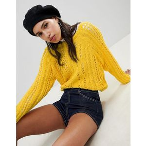 River island cable stitch jumper - yellow