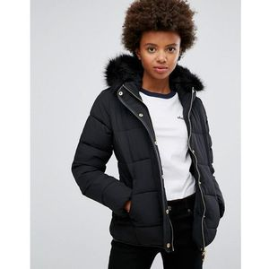 Brave Soul Short Zip Padded Coat - Black, kolor czarny