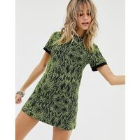 Sacred Hawk Bodycon Dress In Snake - Green