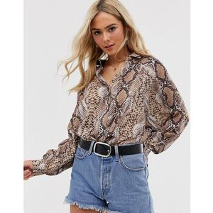 Love snake print shirt - multi