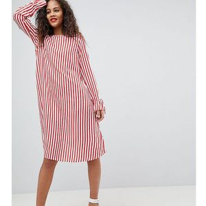 Y.A.S Tall Trey Striped Dress - Red, kolor czerwony