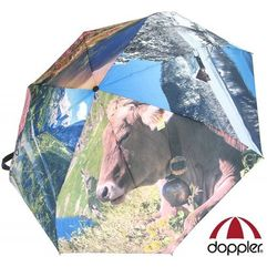 Doppler parasol damski, magic mini art alpy, 74459r, składany