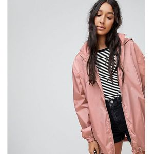 ASOS TALL Rain Jacket with Bum bag - Pink