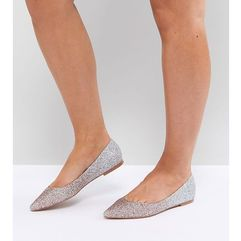 latch pointed ballet flats - multi, Asos