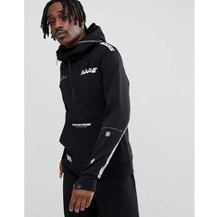AAPE By A Bathing Ape Hoodie With Large Front Pocket - Black, kolor czarny