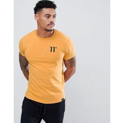 11 Degrees muscle fit t-shirt in yellow with logo - Yellow