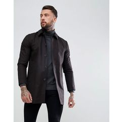 shower resistant single breasted trench in black - black, Asos, XXS-XXL