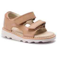 Clarks Sandały - crown root t 261411316 tan leather