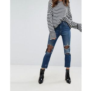 straight leg jean with mesh lining - blue marki Blank nyc