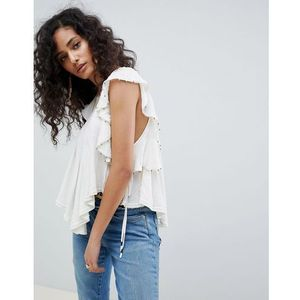 Free People tiny bells tank top - White, w 4 rozmiarach