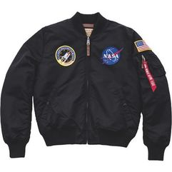 nasa kurtka bomber black marki Alpha industries