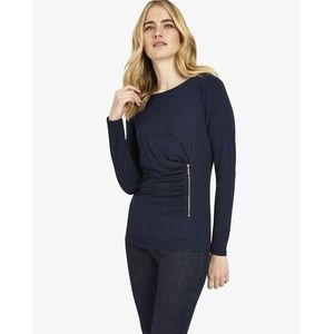 Phase Eight Zoe Zip Side Top, kolor szary