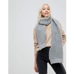 French connection ribbed scarf - grey